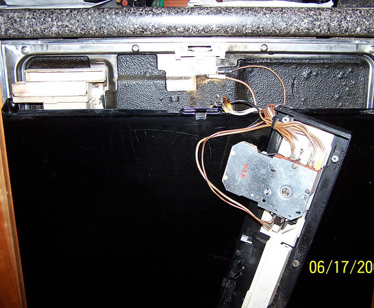 Asko 1303 Dishwasher Burnt Start Button and Wiring