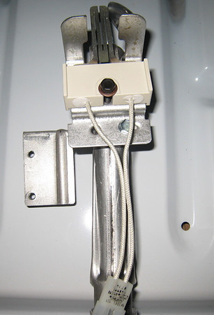 The Ignitor in a Dryer Gas Burner