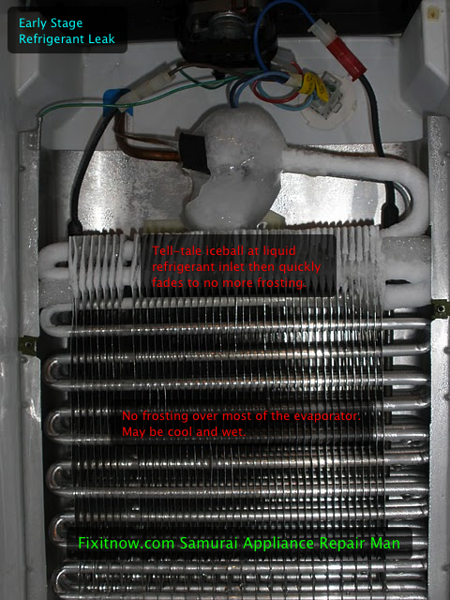 Early Stage Refrigerator Evaporator Leak