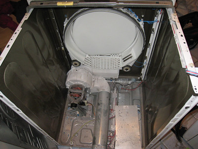 Inside a Bosch Dryer without the Drum
