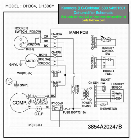 1192077986_R9if2 M kenmore (lg goldstar) 580 54351501 dehumidifier schematic lg microwave wiring diagram at gsmportal.co