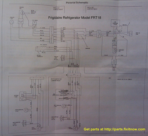 Frigidaire Wiring Diagram: Frigidaire Refrigerator Model FRT18 Wiring Diagram and Schematic ,Design