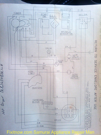 Hotpoint Dryer DLB2650BDLWH Wiring Diagram