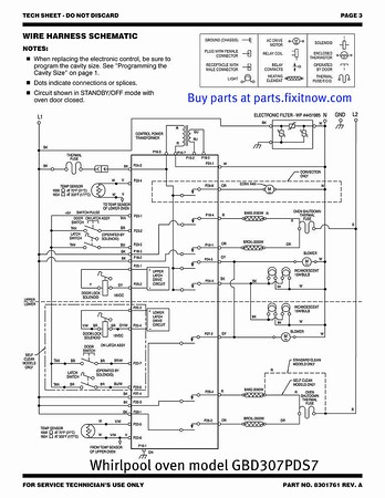 whirlpool gold double oven with convection top oven model gbd307pds7 rh fixitnow com whirlpool oven wiring schematic whirlpool double oven wiring diagram