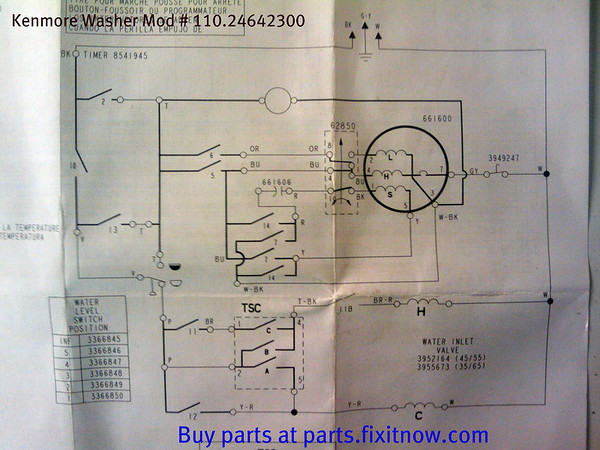 Kenmore Washer Mod # 110.24642300 Schematic