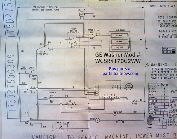 GE Washer Model WCSR4170G2WW Wiring Diagram Fixitnowcom Samurai