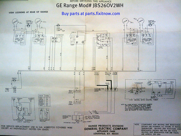range repair fixitnow com samurai appliance repair man page 2 ge range model jbs26ov2wh schematic