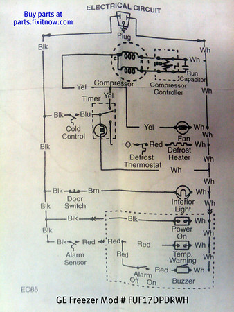 ge freezer model fufdpdrwh schematic  fixitnow samurai, Wiring diagram