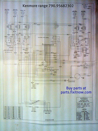 kenmore electric range model 790 95682302 schematic diagram kenmore range mod 790 95682302 schematic