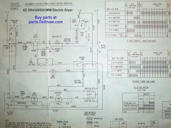 Ge Dryer Schematic - Schema Wiring Diagrams on frigidaire elec dryer schematic, admiral electric dryer timer, admiral model aed4475tq1 parts, whirlpool dryer electrical schematic, sears dryer schematic, admiral electric dryer manual, roper dryer schematic,