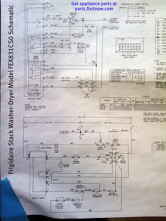 frigidaire stack washer dryer model fex831cs0 schematic fixitnow rh fixitnow com Frigidaire Dishwasher Schematic Diagram frigidaire washing machine wiring diagram