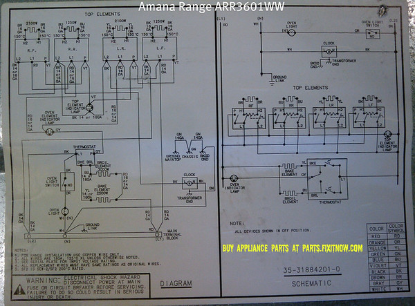 amana range model arrww schematic and wiring diagram amana range model arr3601ww schematic and wiring diagram