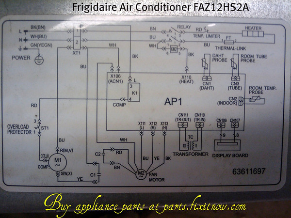 1192078248_ecqNb M frigidaire air conditioner faz12hs2a eng 13 schematic fixitnow wiring diagram for frigidaire air conditioner at mifinder.co